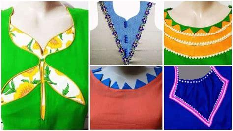 kurta neck designs cutting  stitching simple craft ideas