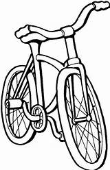 Coloring Bicycle Pages Print sketch template