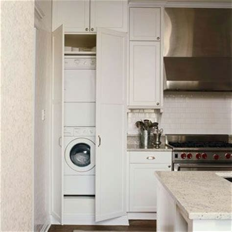hide washer and dryer in kitchen kitchens with a laundry area washers washer and dryer and the doors