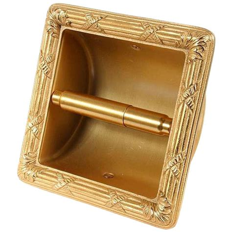 sherle wagner  karat gold plated toilet tissue wall recessed holder  cover  sale  stdibs
