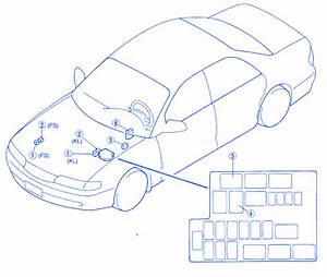 Mazda 626 2 0 1998 Engine Fuse Box  Block Circuit Breaker Diagram