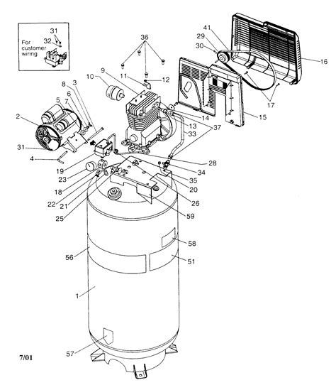 wiring diagram for 220v air compressor the wiring
