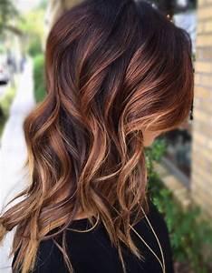Ombré Hair Cuivré : balayage cuivr sur brune couleur cheveux pinterest ~ Melissatoandfro.com Idées de Décoration