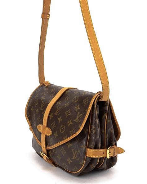 louis vuitton monogram saumur  shoulder bag  brown lyst