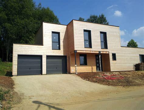 maison cube en bois maison bois cubique 224 toit plat nos maisons ossatures bois maison cubique
