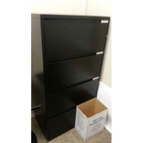 Meridian File Cabinets Locks by Meridian Black 4 Drawer Lateral File Cabinet Locking 36 X