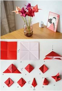 fleurs en origami 20 idées créatives pour une déco
