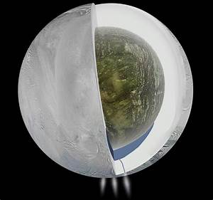 Saturn's moon Enceladus has a huge ocean of liquid water ...