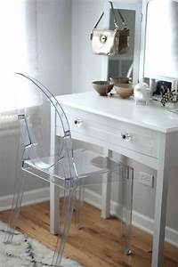 The Images Collection Of Desk Ghost Chair Vanity S Table