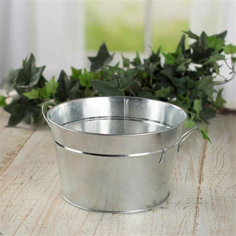 Get it as soon as mon, apr 12. Galvanized Metal Bucket Planter - Baskets, Buckets, & Boxes - Home Decor