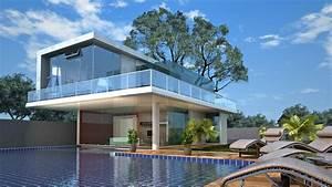Modern Architecture House Portfolio Work Evermotion Org By