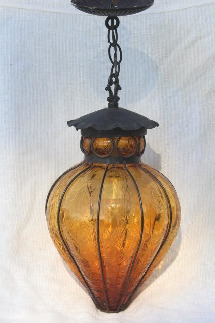vintage wrought iron lantern pendant light fixture