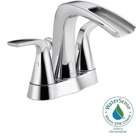 home depot bathroom faucets chrome delta tolva channel bathroom faucet in chrome finish the