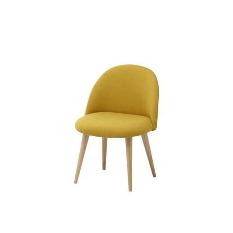 chaises enfants chaise vintage enfant en tissu et bouleau massif jaune