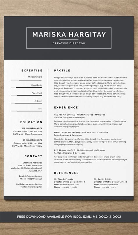 At The End Of A Resume What Do You Put by High End Free Resume Cv For Word Indd On Behance