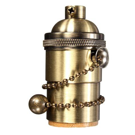 light bulb pull chain e27 e26 copper vintage edison bulb l holder light