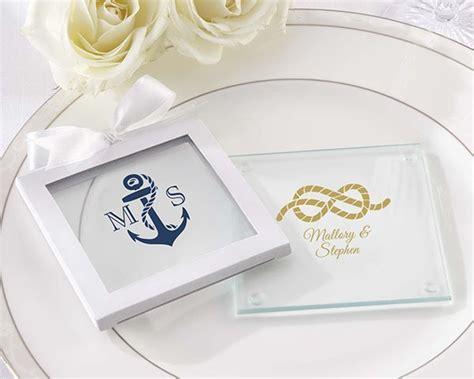 Nautical Theme Personalized Glass Coasters (set Of 12