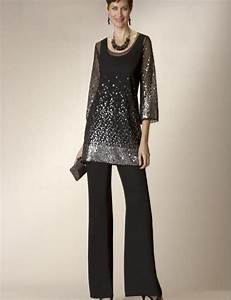 glaring black two pieces mother of the bride pants suit With dress pants for wedding guest