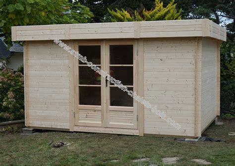 bureau de jardin en kit bureau bois en kit modèle reims 20 sans permis de construire