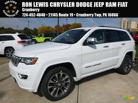 white jeep cherokee 2017 2017 bright white jeep grand cherokee overland 4x4