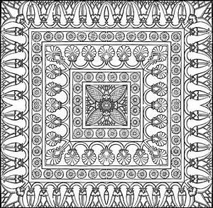 ausmalen erwachsene arabische welt teppich 10 With balkon teppich mit tapete london paris new york