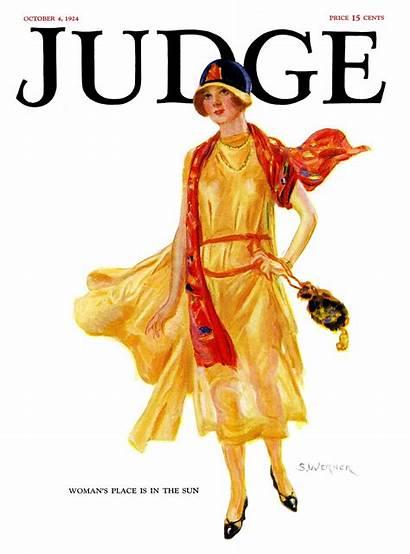 Magazine Judge Sun 1924 Covers Place Woman
