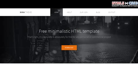 Free Website Templates Html5 by 25 Best Free Html5 Templates