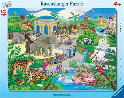 Zoo Puzzle Ravensburger Frame Puzzles Jigsaw 45pc