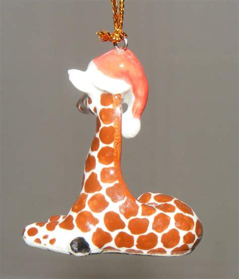 northern rose porcelain christmas tree decoration giraffe