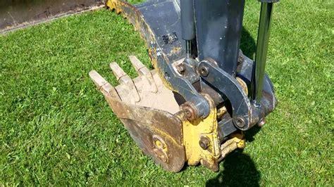 john deere  mini excavator  hydraulic thumb  sale inspection video youtube