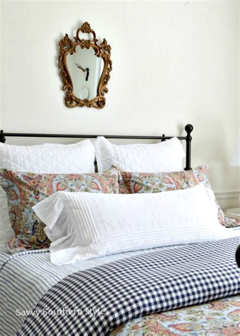 Navy And Pink Bedroom by Savvy Southern Style A Grand Foyer Transformation