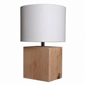 Lampe Design Bois : lampe de chevet nature ~ Teatrodelosmanantiales.com Idées de Décoration