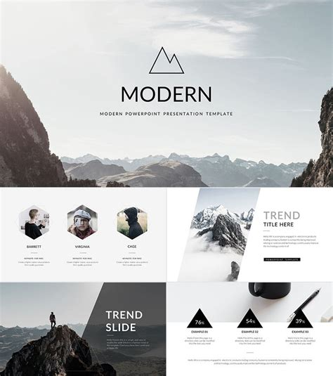 modern cool powerpoint templates  minimal style work