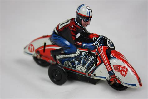 Huki Tin Toy Motorcycle 1940s Made In U.s.-zone Germany