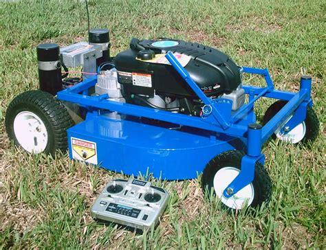 rc lawn mower remote lawn mower diesel bombers