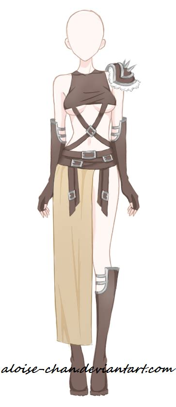 [SOLD] Desert Traveler Armour Adoptable by Aloise-chan.deviantart.com on @DeviantArt | Anime ...