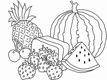 Fruit Coloring Fruits Pages Basket Printable