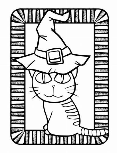 Halloween Kawaii Premium Coloring Cat Kleurplaat Kat