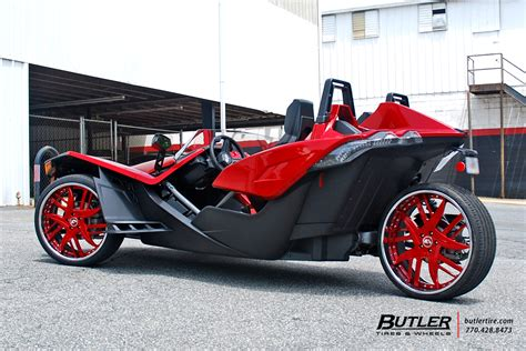 polaris slingshot   forgiato decimo wheels
