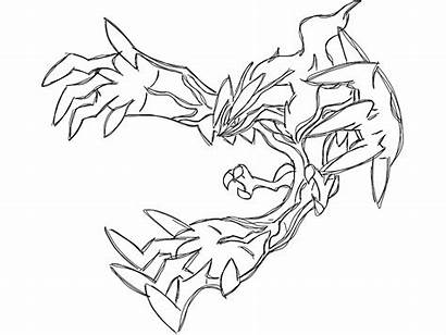 Pokemon Coloring Legendary Lesson Pages Yveltal Printables