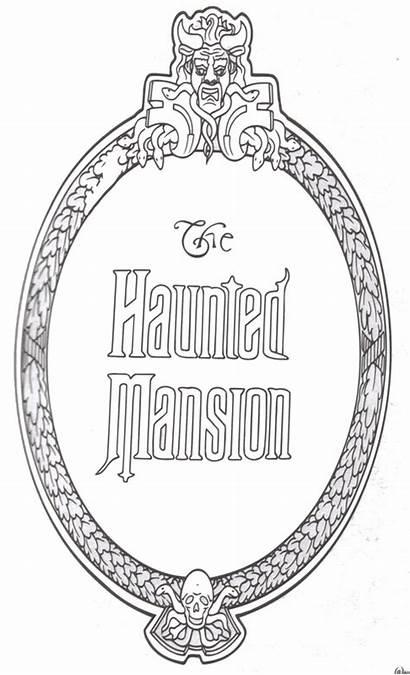 Disney Coloring Mansion Haunted Walt Clipart Colorir
