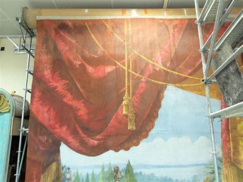 restauration d un rideau de th 233 226 tre xix 232 me h 233 rault