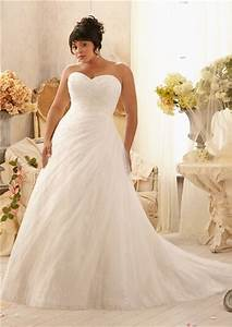 romantic a line sweetheart lace tulle beaded plus size With plus size tulle wedding dress