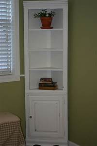 Charming, Creations, White, Distressed, Corner, Shelf, Cabinet, For, Sale