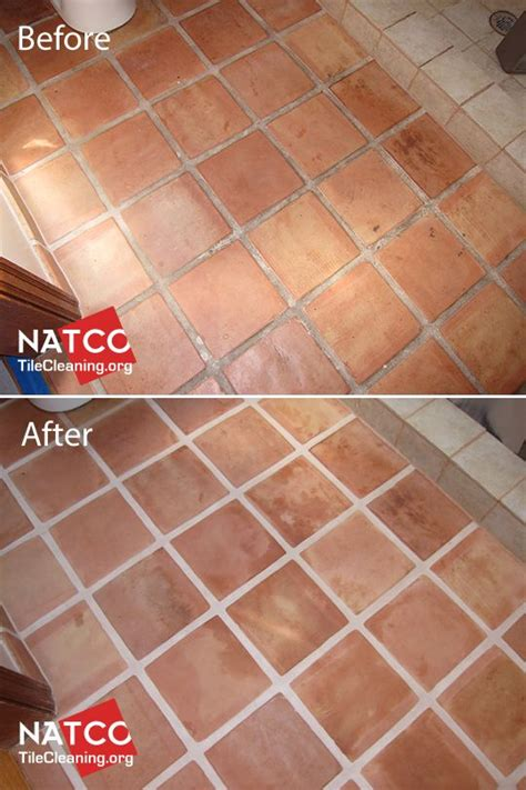 stripping and sealing of a saltillo tile floor cleaning