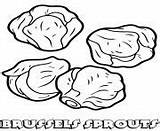 Coloring Sprouts Vegetable Brussels sketch template