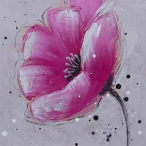 Tableau Peinture Sur Toile : tableau peinture sur toile fleur velvet flowery 1 30x30cm peniture cmondi213 photos club ~ Teatrodelosmanantiales.com Idées de Décoration