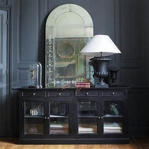 buffet vitre noir maisons du monde klassisch pinterest With meuble de cuisine maison du monde 5 buffet en manguier l 170 cm persiennes maisons du monde