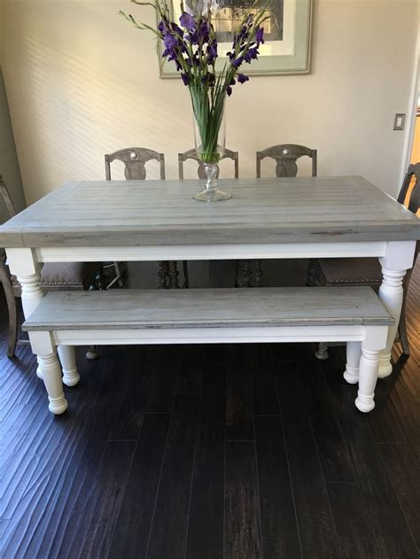 farmhouse kitchen table light farmhouse table with light grey base and distressed