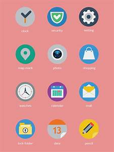 Top 20 Flat Mobile Icons For your Inspiration | DesignFollow